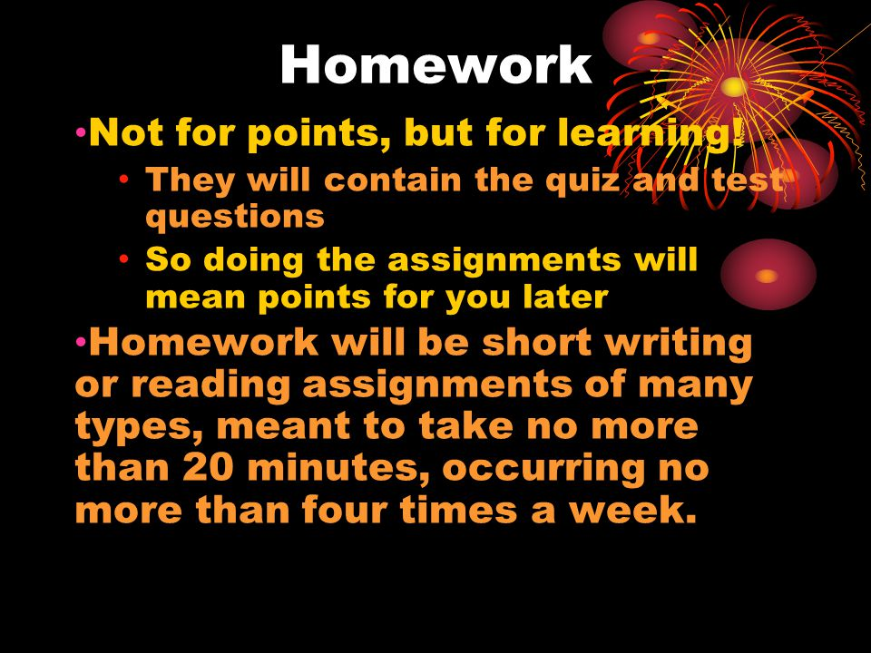 Projects 2 page papers or projects meant to be the student's opportunity to learn about a topic of their own interest at greater depth Students will be guided through the writing process in small steps Completing the assignment should feel like a few homework assignments that create a larger project