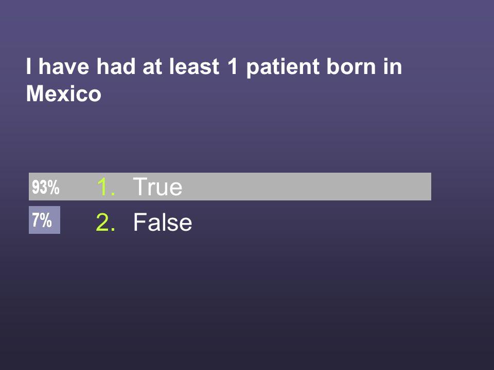 I can explain how Mexican health care systems work 1.True 2.False