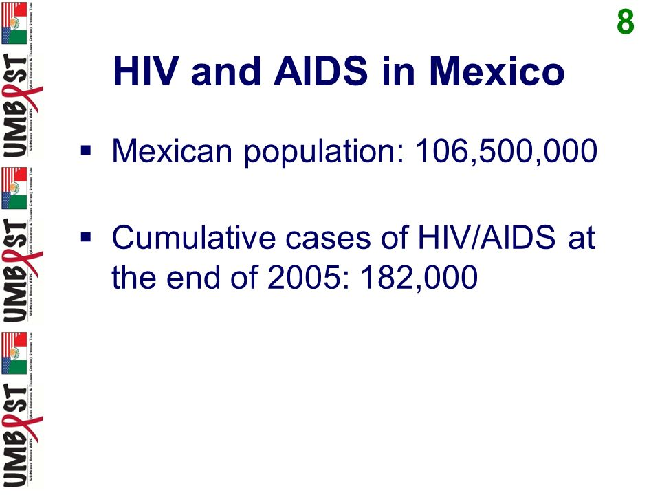 HIV/AIDS Cumulative Cases 9 along the U.S.-Mexico Border (as of Dec 31, 2011) Baja Cal Norte: 6,863 Sonora: 2,748 Chihuahua: 6,457 Coahuila: 1,783 Nuevo León: 4,367 Tamaulipas: 3,737 TOTAL: 25,955
