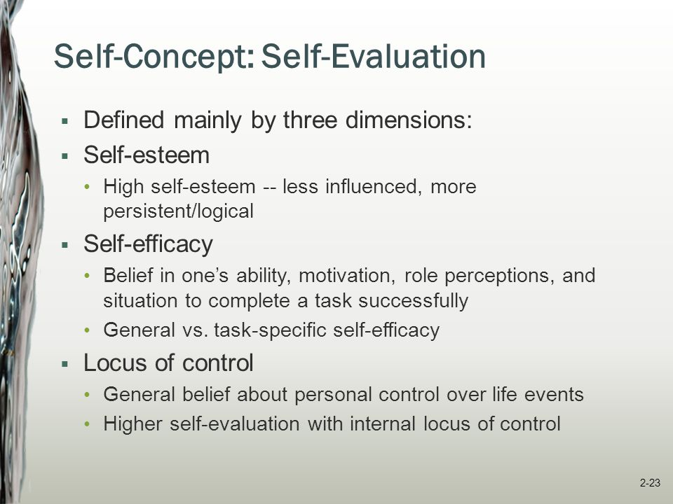 Self-Concept: Social Self  Social identity -- defining ourselves in terms of groups to which we belong or have an emotional attachment  We identify with groups that have high status -- aids self-enhancement Employees at other firms People living in other countries Graduates of other schools An individual's social identity IBM Employee Live in U.S.A.