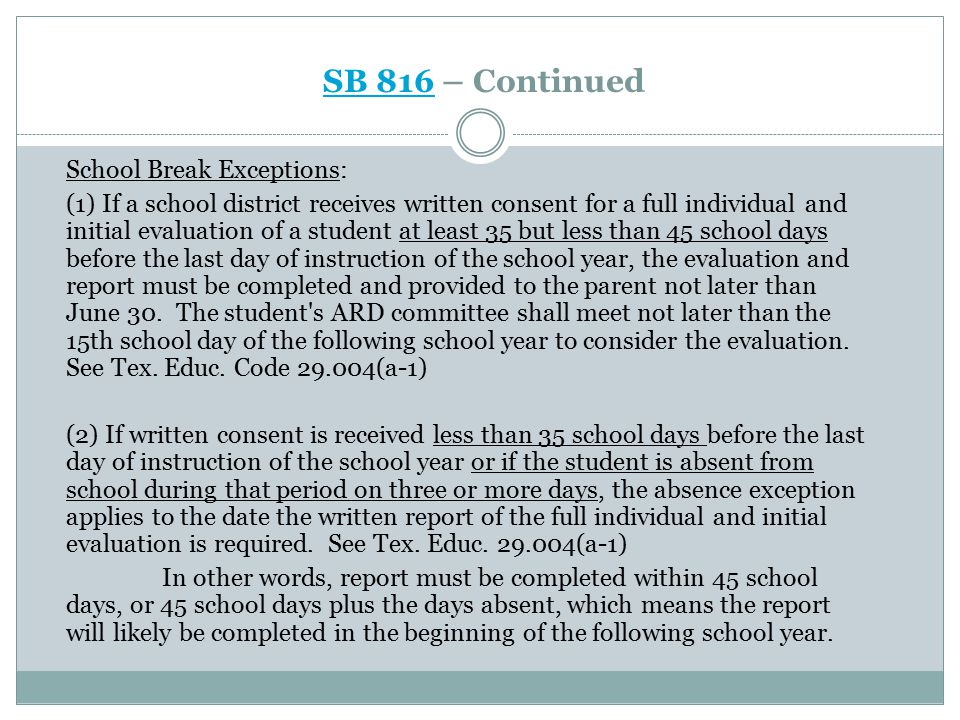 SB 816SB 816 – Continued: Response Required.