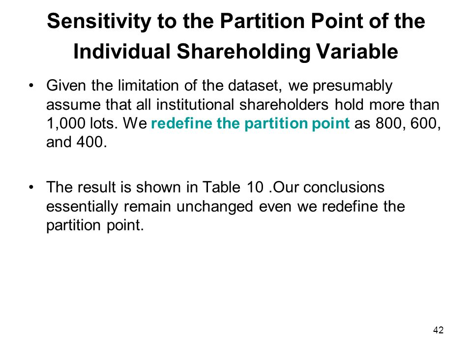 Sensitivity to the Exclusion of Firms Paying both Cash and Stock Dividends To rule out the potential confounding effects between cash and stock dividends, we separate our sample into cash- dividend-only and stock-dividend-only cases.
