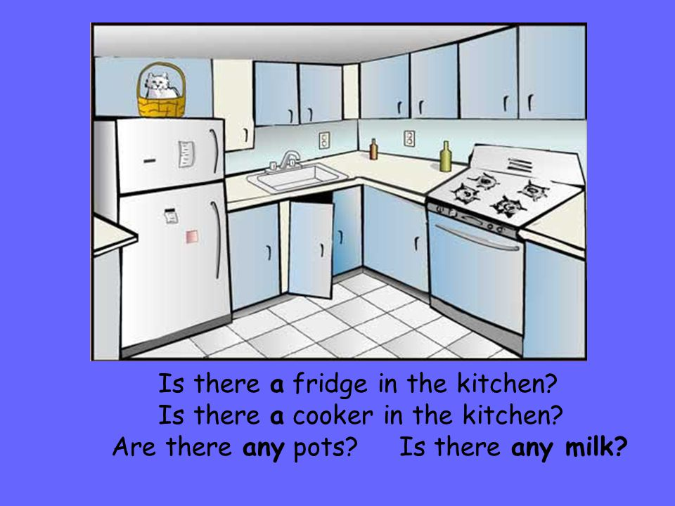 Is there a fridge in the kitchen.Is there a cooker in the kitchen.