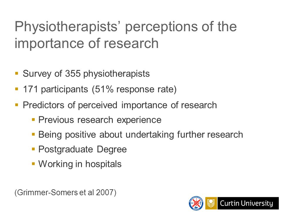 Impact of research on clinical practice Respiratory physiotherapy following cardiac surgery