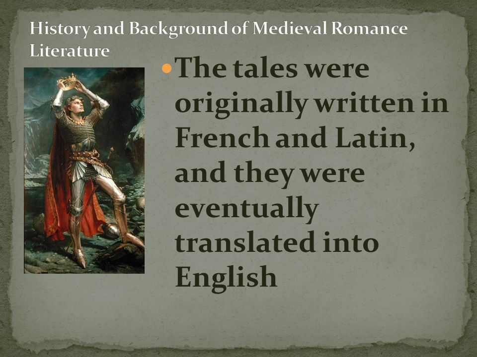 The original Romances were set in lands all over the world and named for the country in which they were set.