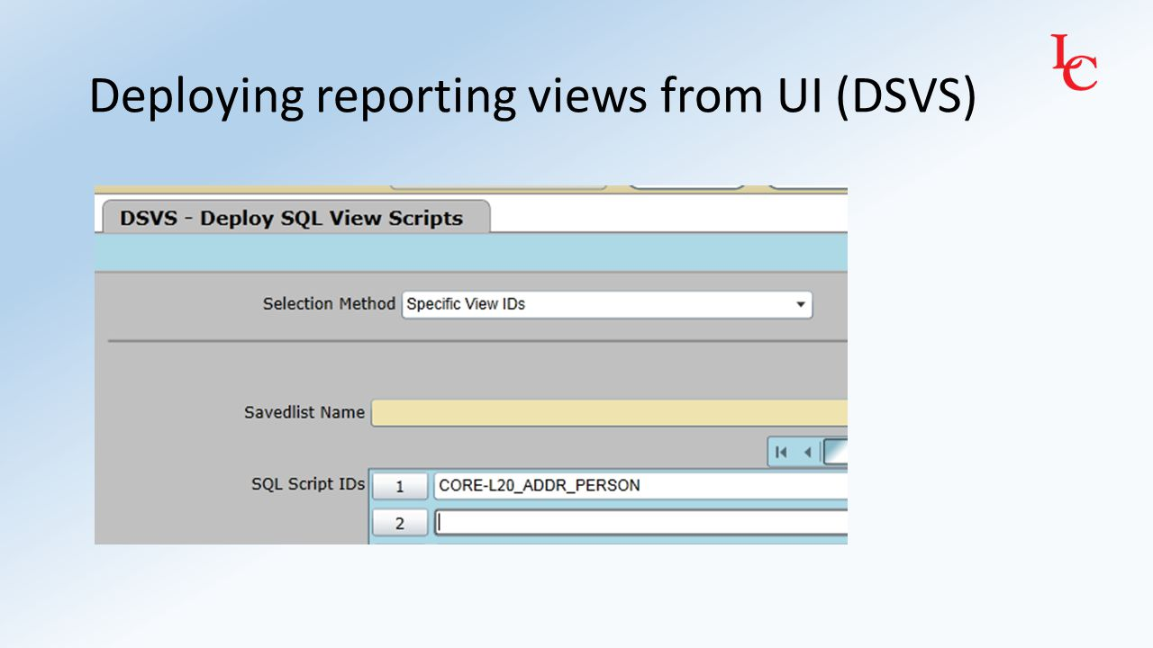 Confirm reporting view was successfully created via SSMS (remember to refresh Views first)