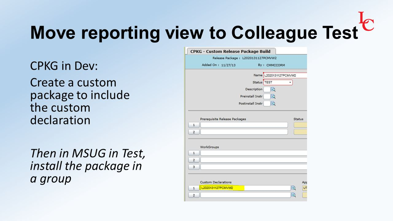 Create data dictionary of reporting view The dictionary will aid the report writer in understanding what data the view can report The dictionary also serves as a reference for IT in case future changes need to be made We are also documenting if a computed column is being used in the view.