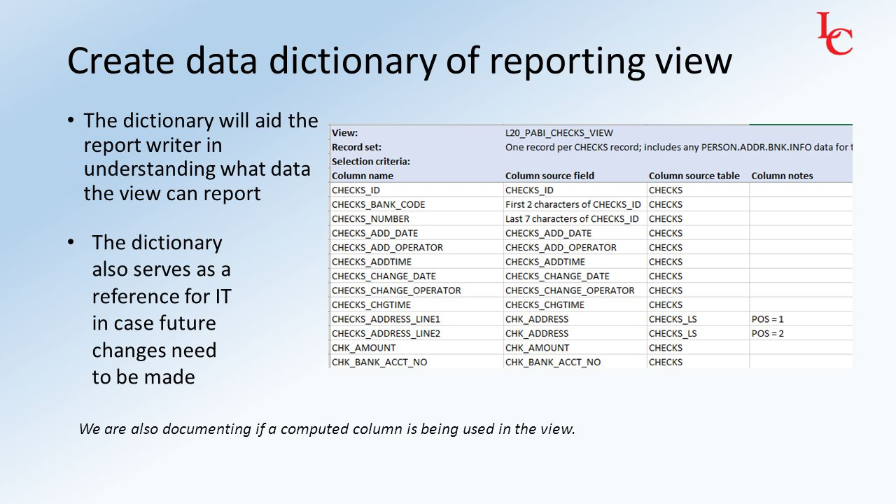 Have users test reporting view You might need to make changes based on their feedback.