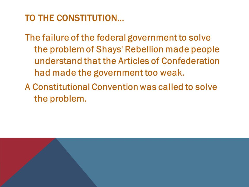 TO THE CONSTITUTION...