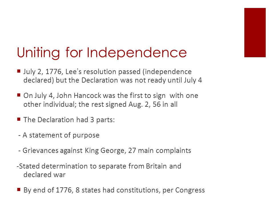 Articles of Confederation  Developed between July 1776 & Nov.1777 during Rev.