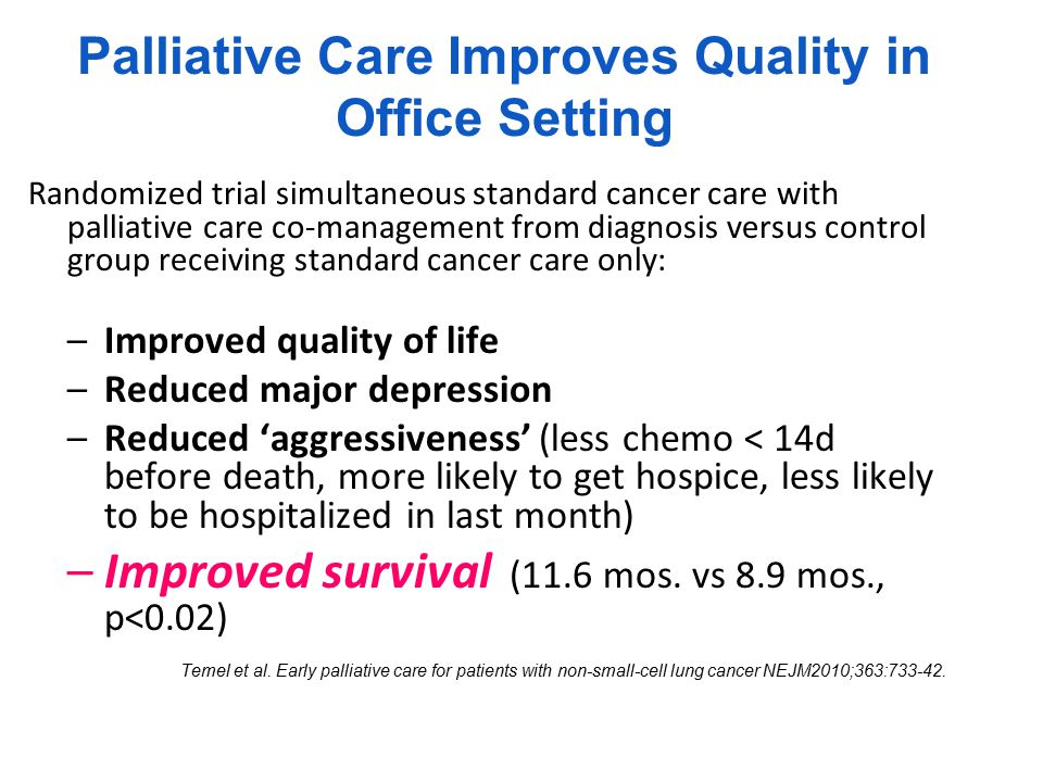 Palliative Care at Home for the Chronically Ill Improves Quality, Markedly Reduces Cost RCT of Service Use Among Heart Failure, Chronic Obstructive Pulmonary Disease, or Cancer Patients While Enrolled in a Home Palliative Care Intervention or Receiving Usual Home Care, 1999–2000 KP Study Brumley, R.D.