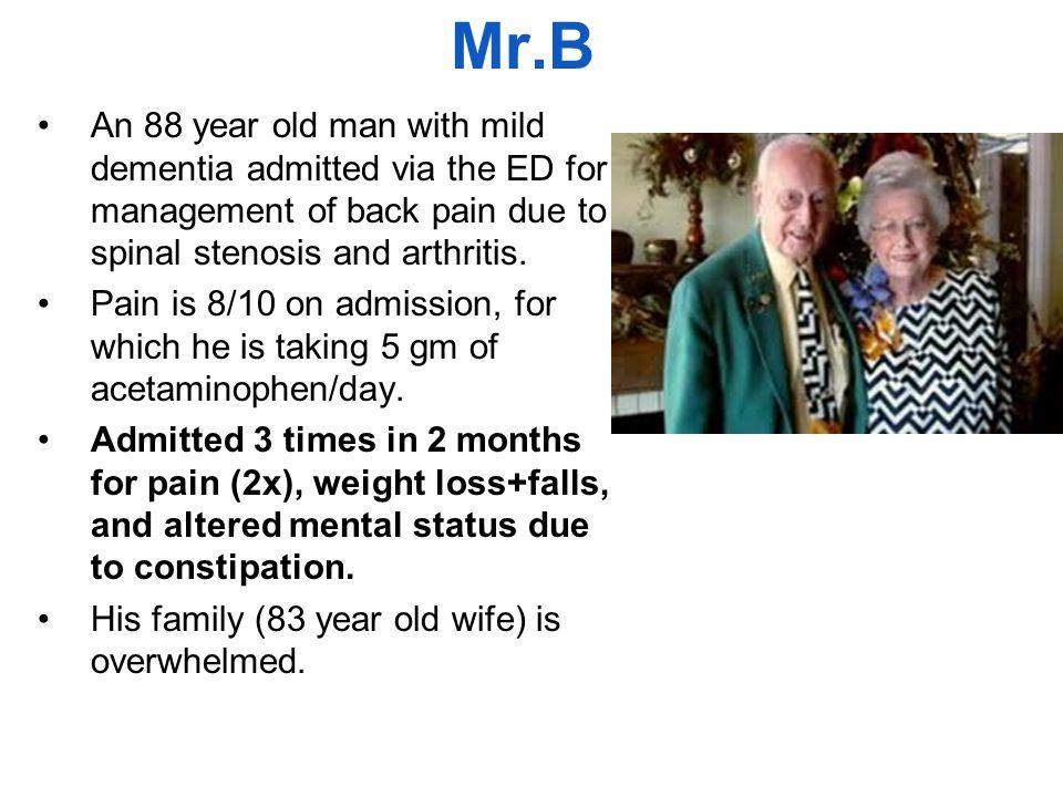 Mr.B: Mr. B: Don't take me to the hospital. Please! Mrs.
