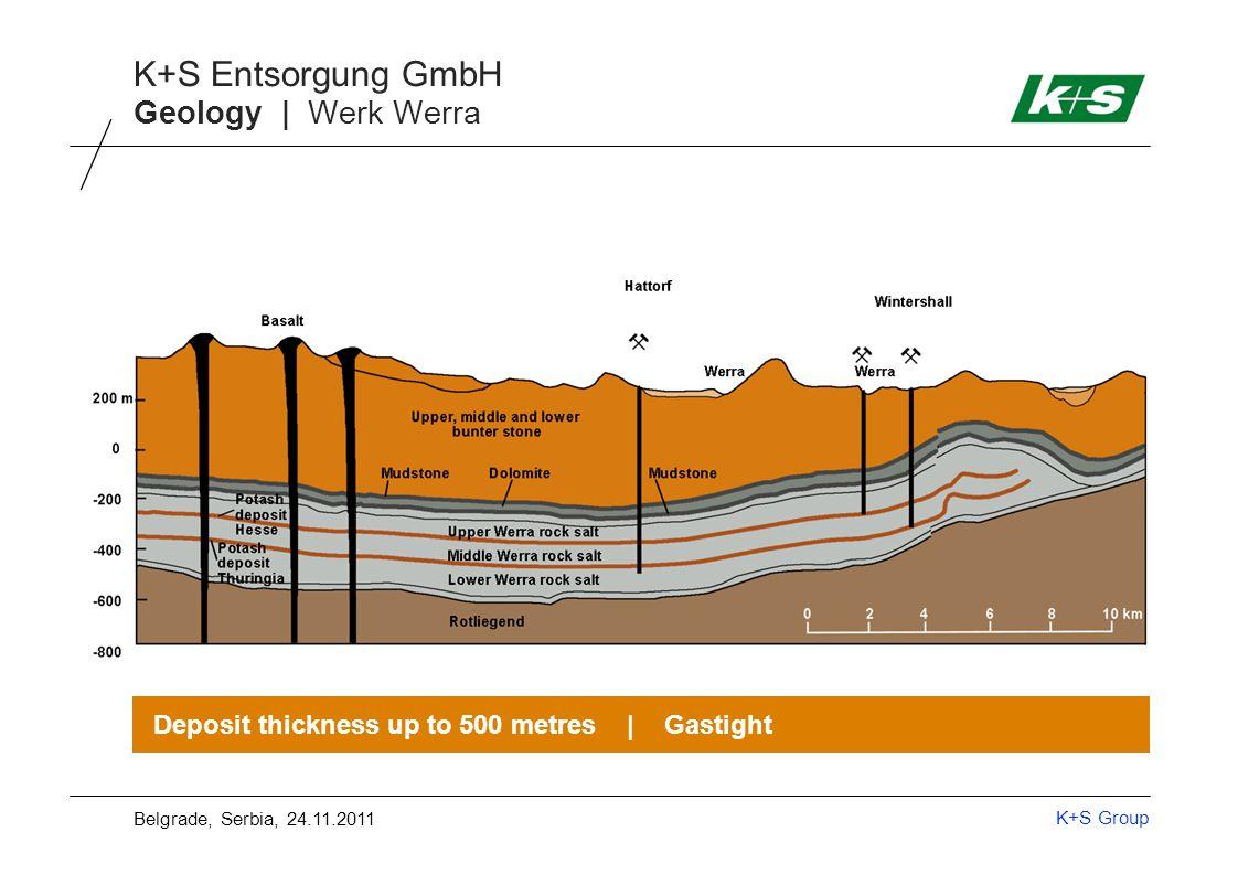 K+S Group K+S Entsorgung GmbH Mining | Map of mine Belgrade, Serbia, 24.11.2011