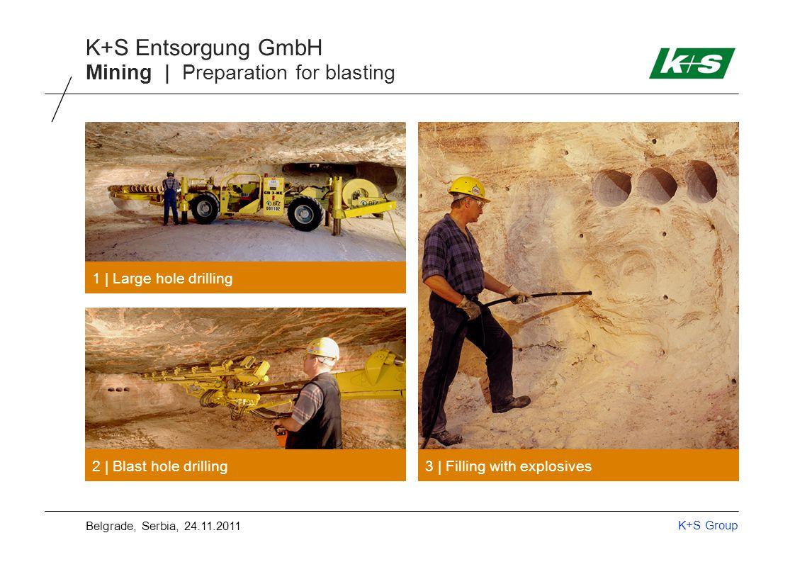 K+S Group K+S Entsorgung GmbH Mining | Underground transport of salt 4 | Transport of ore 5 | Transport via conveyor to the shaft Belgrade, Serbia, 24.11.2011