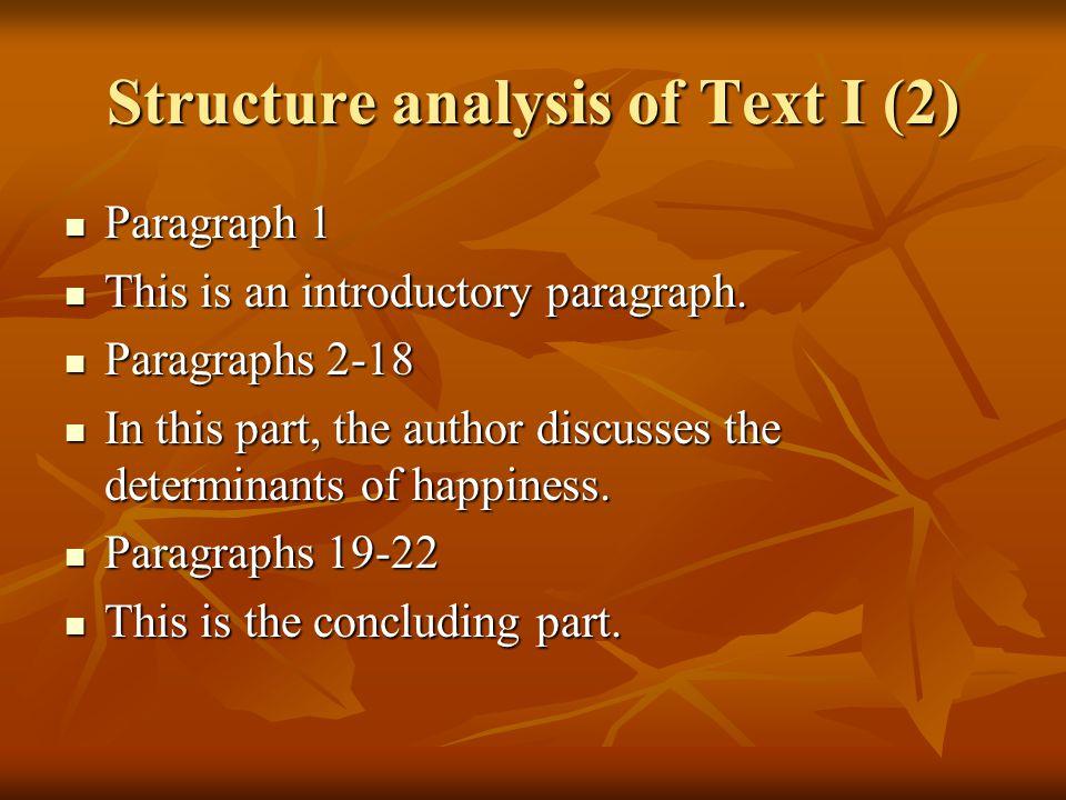 Comprehension questions of Text I (1) 1.