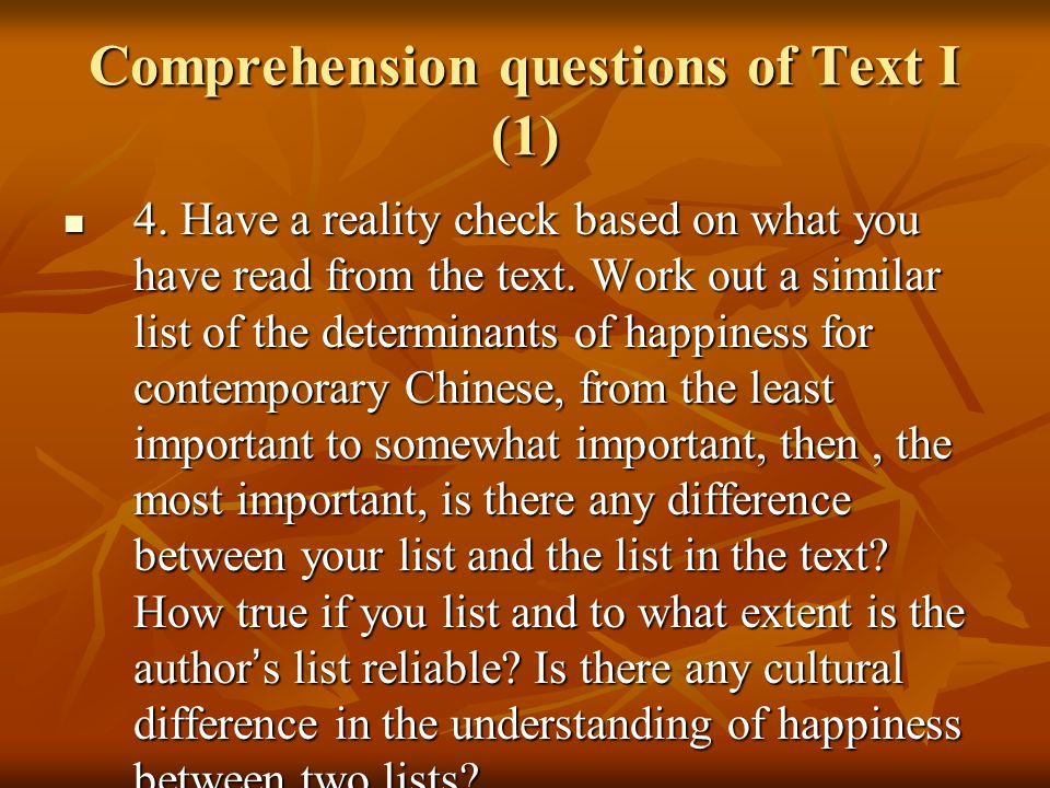 Language points of Text I (1) 1.much of speculation: mostly a conjecture without firm evidence 1.