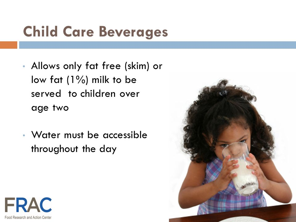 CACFP Meal Pattern Revisions Healthy, Hunger-Free Kids Act