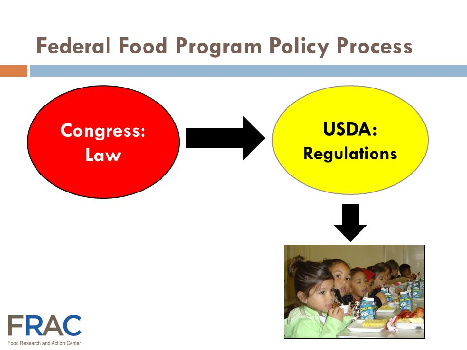 Child & Adult Care Food Program New Meal Regulations Possible Timeline USDA Proposes New Rules Early 2014 Public Comments 90 days Early 2014 USDA Issues New Rules 2015 New Rules Implemented 2015* * Fiscal Year 2016