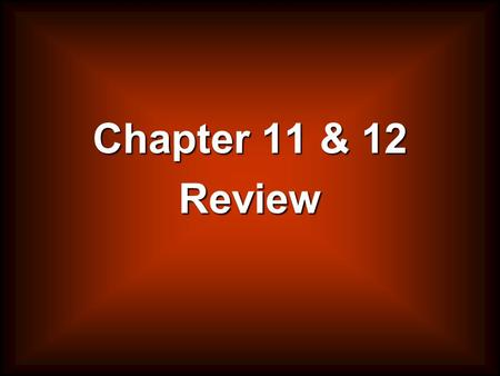 Chapter 11 & 12 Review. What is a lobbyist? A person paid to represent the particular interests of a group.