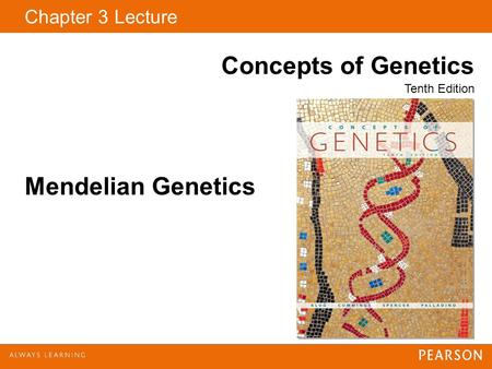 Chapter 3 Lecture Concepts of Genetics Tenth Edition Mendelian Genetics.