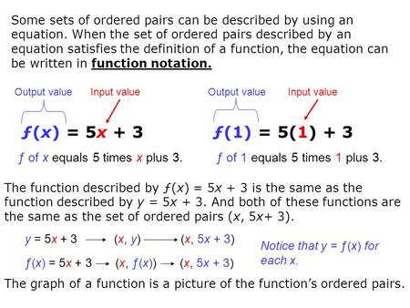 Writing a function rule given a table of ordered pairs: One-step rules