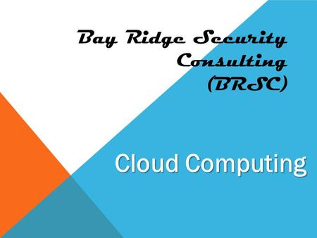 Bay Ridge Security Consulting (BRSC) Cloud Computing.
