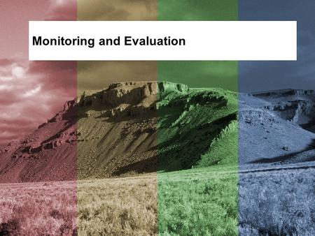 Monitoring and Evaluation. Objective Identify appropriate monitoring techniques. Identify approaches to evaluating plan implementation and effectiveness.