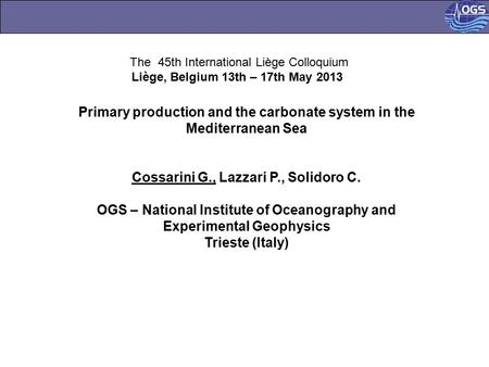 Primary production and the carbonate system in the Mediterranean Sea