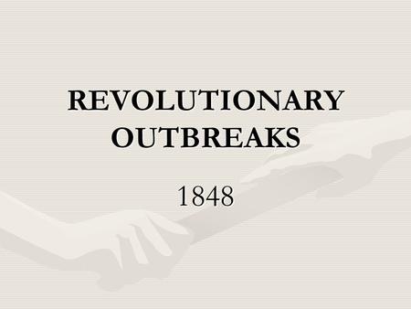 REVOLUTIONARY OUTBREAKS 1848. Pre-1848 Deliberations in Vienna-1815.
