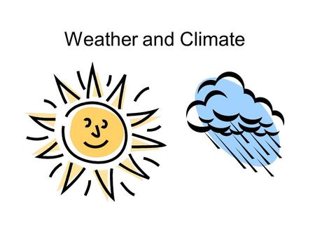 Weather and Climate. Weather vs. Climate Weather – The daily condition of the atmosphere which includes temperature and precipitation Precipitation: Moisture.