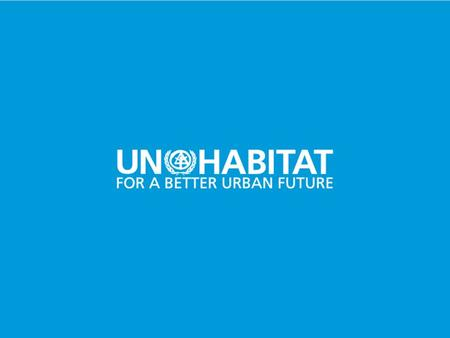 1. THE WORLD URBAN FORUM Secretariat to the Governing Council, External Relations and Inter-Agency Affairs.