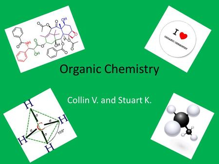 Organic Chemistry Collin V. and Stuart K.. Do you need a refresher on Organic Chemistry? Well… You've come to the right place.