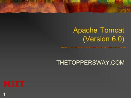 NJIT 1 Apache Tomcat (Version 6.0) THETOPPERSWAY.COM.