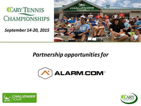 September 14-20, 2015 Partnership opportunities for.