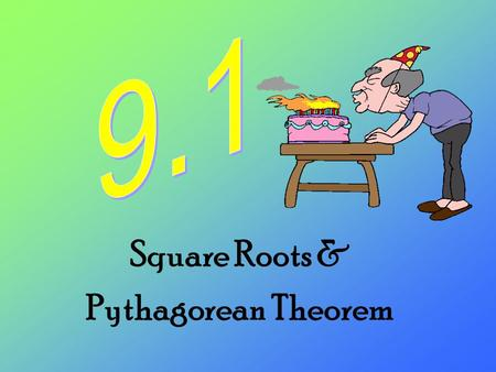 Square Roots & Pythagorean Theorem. The opposite of + is - The opposite of is The opposite of x 2 is Inverse Operations…