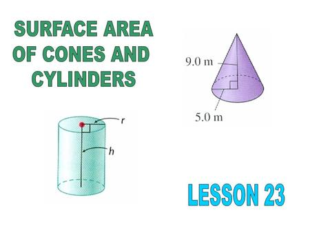 The surface area of a cylinder is the entire area of the outside of the object. To calculate surface area, find the area the curved surface and the two.