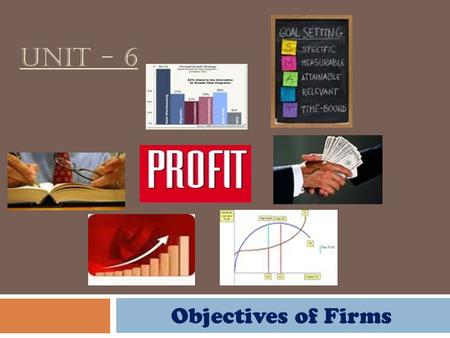 Unit - 6 Objectives of Firms.