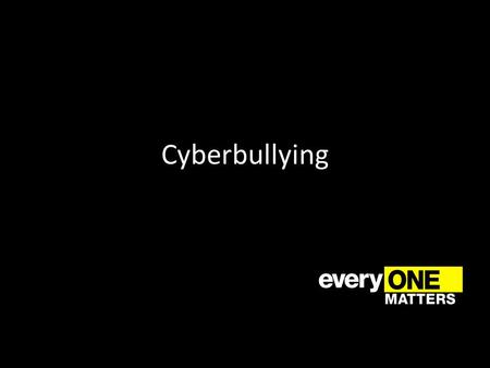 Cyberbullying. External Variable An external variable that is hard for anyone to control is being online The majority of students who admitted to cyber.