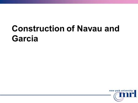 Construction of Navau and Garcia. Basic steps Construction has two parameters: smoothness k and n > k, defining how closely the surface follows the control.