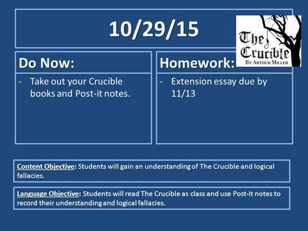 crucible title significance rough draft the crucible essay assignment  what is the significance of the title of the play which characters best illustrate the title's meaning  rough draft.