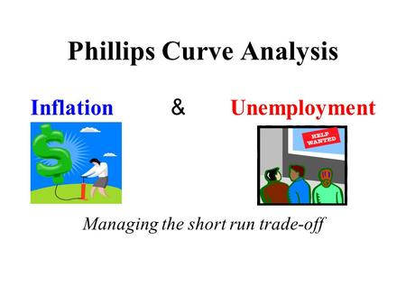 Phillips Curve Analysis Inflation & Unemployment Managing the short run trade-off.