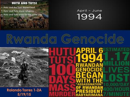 There was two major ethnic groups in Rwanda. They were the Hutu's and the Tutsi's. A third group called the Twa, consisted of less than 1 percent of the.