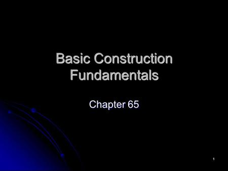 1 Basic Construction Fundamentals Chapter 65. 2 Unit Construction Prepare separate garment pieces first, and then assemble in specific order Prepare separate.