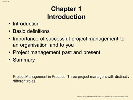 Chapter 1 Introduction Introduction Basic definitions