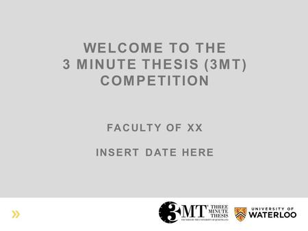 three minute thesis criteria Judging criteria this handbook is for use by three minute thesis competition participants at dalhousie university it contains.