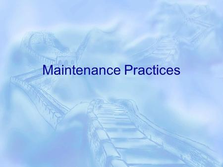 Maintenance Practices. Goal  Automate the necessary DBA chores to put organizations on the path of having healthier, consistent and more trustworthy.