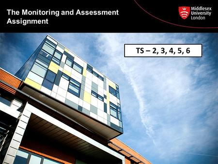 The Monitoring and Assessment Assignment TS – 2, 3, 4, 5, 6.