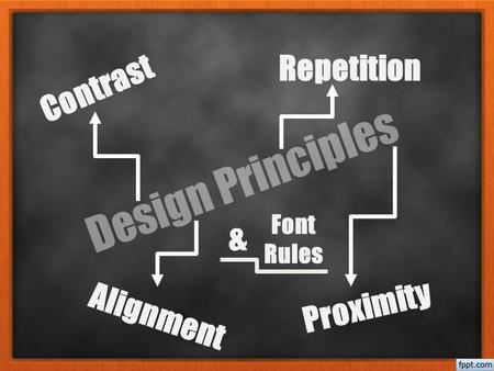 Design Principles Contrast Repetition Alignment Proximity Font Rules &