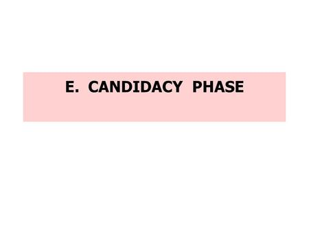 E. CANDIDACY PHASE. RITE Rite of Admission [ Ritual P. 11 ]