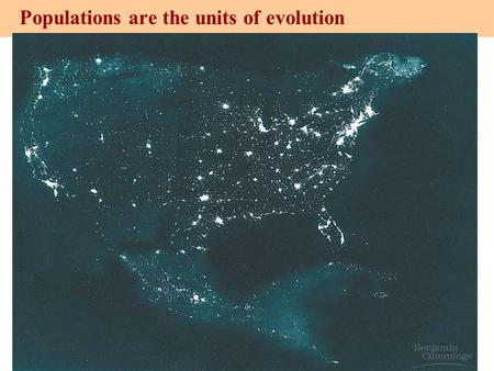 Copyright © 2003 Pearson Education, Inc. publishing as Benjamin Cummings Populations are the units of evolution Figure 13.6.